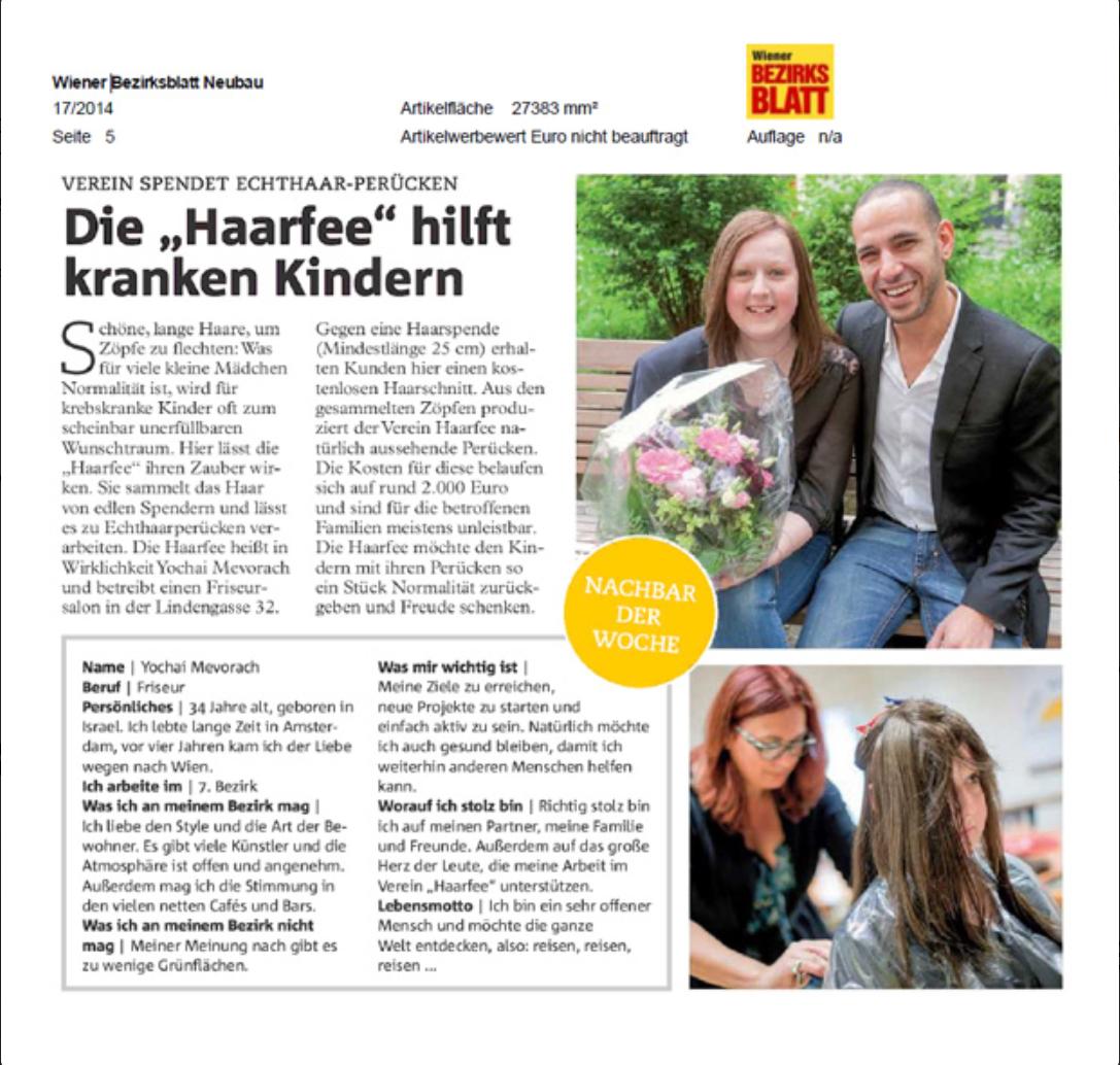 Zeitungsartikel Bezirksblatt