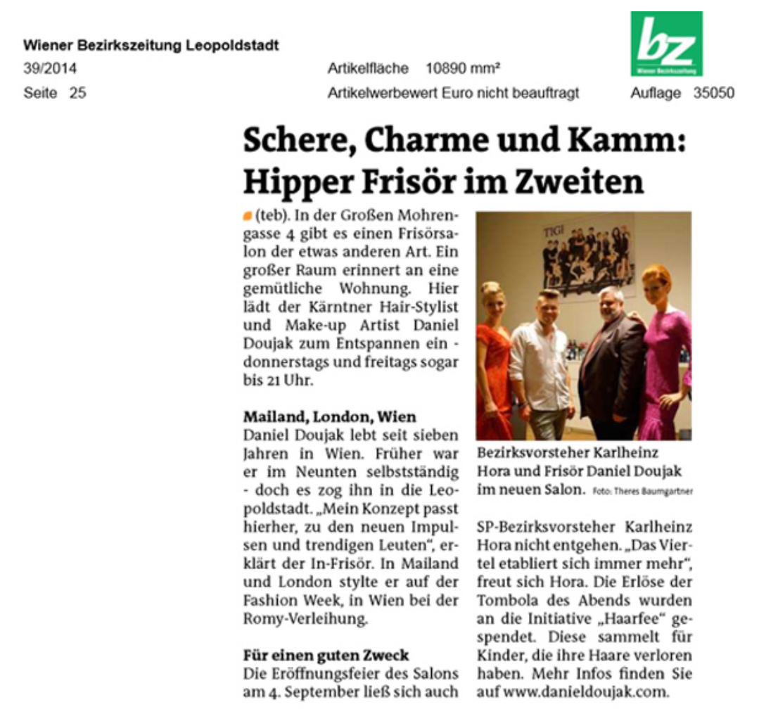 Wiener Bezirkszeitung Bericht