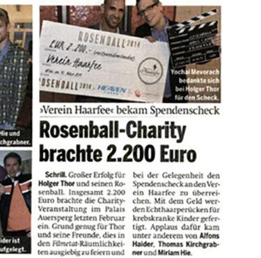 Rosenball brachte 2.200 Euro