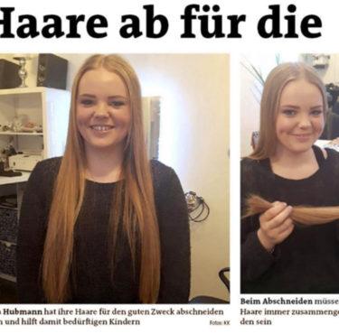 Haare ab für kranke Kinder