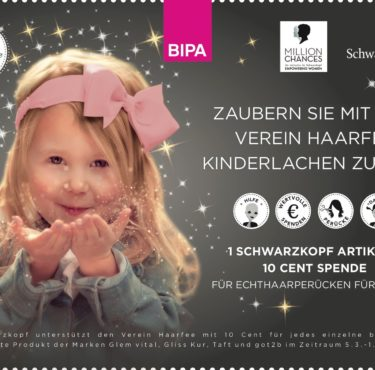 März-Aktion: Bipa & Schwarzkopf sammeln für die Haarfee