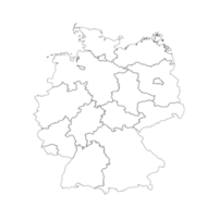 Landkarte Deutschland